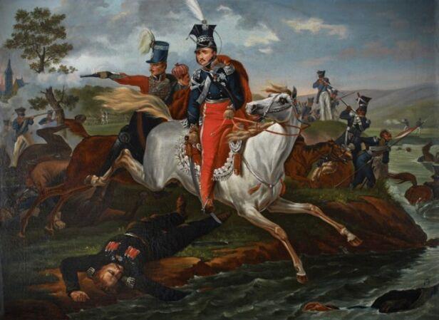 Kopia obrazu, która wisi w Łazienkach Królewskich, autorstwa Marcina Zaleskiego Łazienki Królewskie Muzeum