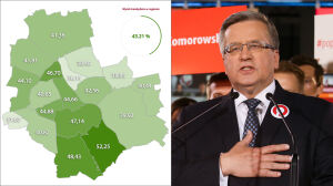 Komorowski wygrał we wszystkich dzielnicach. Tak głosowała Warszawa