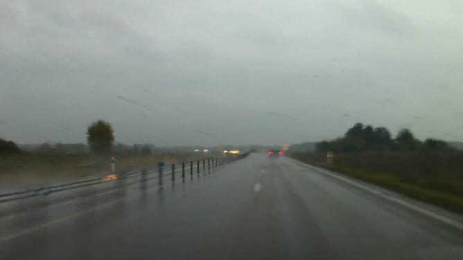 Podróżowanie przeważnie w deszczu