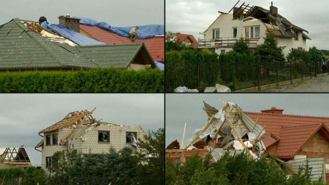 Verena siała zniszczenie. Zerwane dachy, trzy osoby ranne