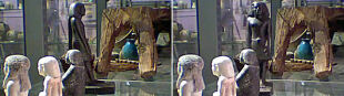 Zemsta faraona? Egipska figurka sama się obraca