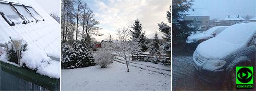 Śnieg przykrył część Polski. Zalecamy podziwianie go z okien i balkonów
