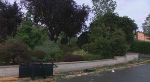 Zniszczenia w gminie Pétange w Luksemburgu