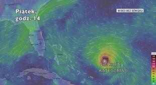 Prognozowane porywy wiatru podczas huraganu Dorian (Ventusky.com) | wideo bez dźwięku